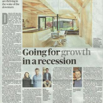 NOJI Architects feature in The Sunday Times